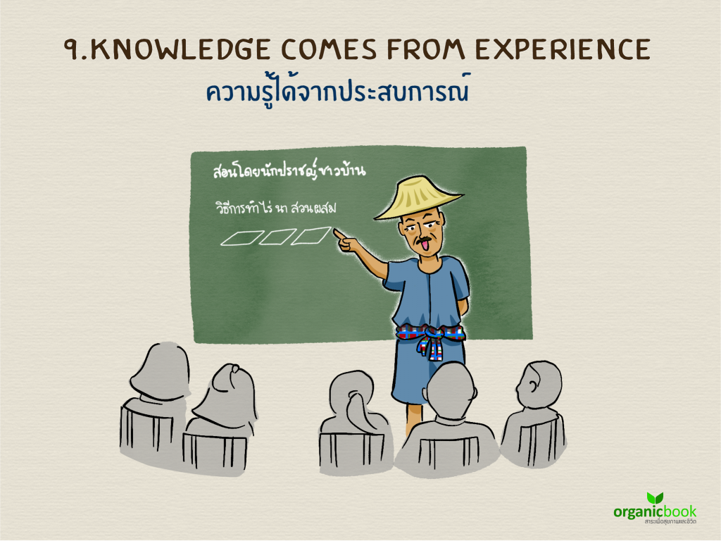 Knowledge Comes From Experience ความรู้ได้จากประสบการณ์